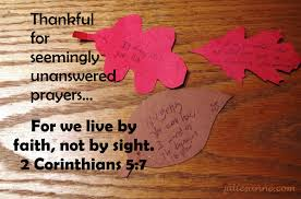 thankful for unanswered prayers