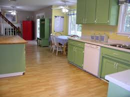 green building kitchen cabinets brown natural wooden modern