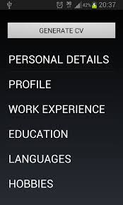 build a resume on my phone curriculum vitae android apps on google play