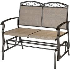 Mayfield Patio Furniture by Corliving Speckled Brown Patio Double Glider Walmart Com