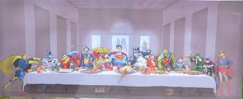 marvel superheros at the last supper canvas wall art amazon co uk marvel superheros at the last supper canvas wall art amazon co uk kitchen home