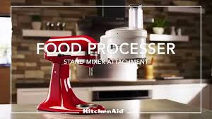 Kitchenaid Mixer Artisan by Kitchenaid Stand Mixer Attachment Food Processor Youtube