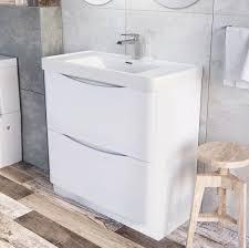 Bathroom Vanity 900mm by Erin Floor Standing 900 Vanity Unit U0026 Basin Gloss White Easy