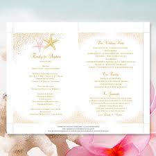 make your own wedding fan programs wedding fan programs confetti starfish blush pink