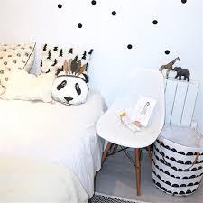 coussin chambre bébé style nordique panda tête oreiller bébé coussin enfant chambre bébé