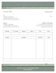 fill blank invoice template