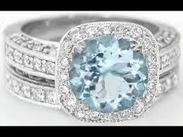 Aquamarine Wedding Rings by Aquamarine Engagement Ring Aquamarine Engagement Rings With