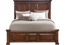 Panel Bed Frame Clairfield Tobacco 3 Pc King Panel Bed Beds Wood