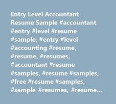 Entry Level Accounting Resume Examples by Best 20 Example Of Resume Ideas On Pinterest