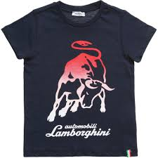 lamborghini clothing automobili lamborghini boys navy blue cotton t shirt with bull