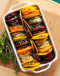 shmancy herb roasted root vegetables
