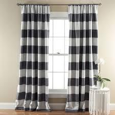 new threshold bold gray stripe lined window curtain 54