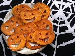 sweet potato jack o u0027 lantern crisps