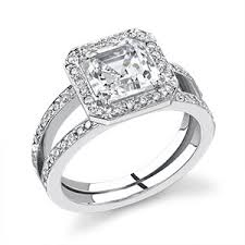 square cut halo engagement rings cut engagement rings