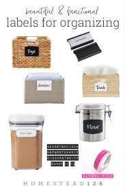 Labels For Kitchen Canisters Best Labels For Organizing The Home