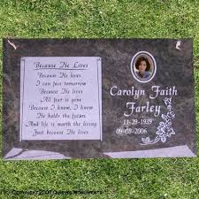 headstone markers single flat grave markers personalized single grave markers