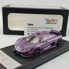 koenigsegg purple frontiart sophiart 1 43 koenigsegg regera purple resin model car