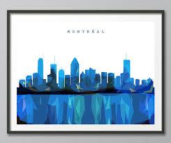 Montreal Home Decor Skyline Montreal Skyline Geometric Skyline Print Geometric