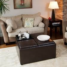 coffee table square ottoman coffee table grain leather living