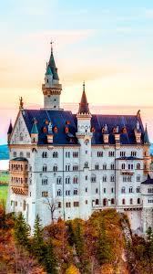 hd background neuschwanstein castle autumn bavaria city germany