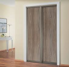 Bypass Closet Doors Sliding Closet Doors With Melamine And Mirror Alumcomplete