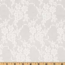 white lace stretch floral lace white fabric by the yard s