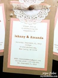 Engagement Card Invitations Playing With Paper Scrapbooks Cards U0026 Diy Vintage Doily