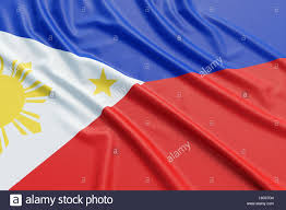 Philippines Flag Philippines Flag Wavy Fabric High Detailed Texture 3d