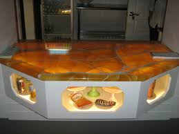 Black Onyx Countertops Small Kitchen Decoration Using Decorative Brown Lighted Leaves