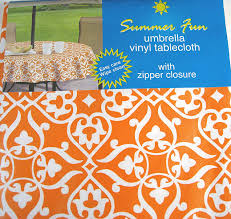Round Patio Table Cover With Zipper by Amazon Com Fleur De Lis Vinyl Umbrella Tablecloth With Hole And