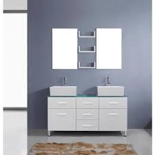 Bathroom Vanities San Antonio by Abodo 56 Inch Contemporary Bathroom Vanity Solid Rubber Wood