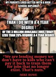 College Degree Meme - nearly 64 percent of jobs don t require college education but wait