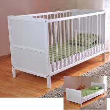 free uk delivery white solid wood baby cot bed u0026 deluxe foam