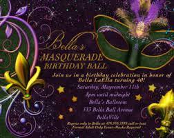 masquerade party masquerade invitation mardi gras party
