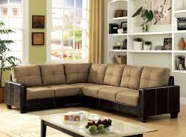 Microfiber Living Room Set Light Brown Microfiber Sofa Gently Curved Arms Wooden Block Feet