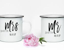 personalized mugs for wedding mr and mrs cups etsy