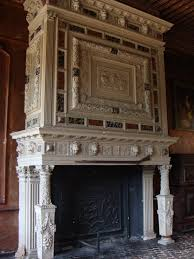 fireplace in an old castle in france chateau de sully