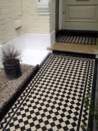 Victorian Mosaic Floor Tiles Victorian Black And White Mosaic Tile Path Balham Tooting