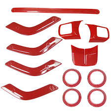 amazon com full set interior decoration trim kit cover for jeep