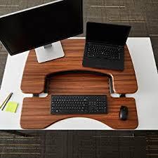Standing Desk On Top Of Existing Desk Amazon Com Height Adjustable Standing Desk Varidesk Pro Plus