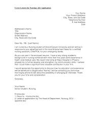academic cover letter format new graduate nurse cover letter format shishita world com