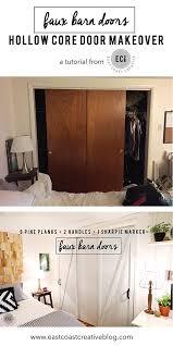 Hollow Interior Door Diy Faux Barn Doors Hollow Core Door Makeover East Coast