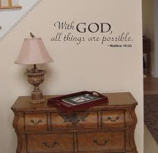 amazon com with god all things are possible religious wall decal amazon com with god all things are possible religious wall decal sticker home kitchen