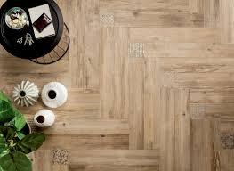 medium patterned wooden floor tiles with fleur de lis motif