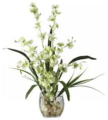 Silk Floral Arrangements Dancing Lady Orchid Liquid Illusion Silk Flower Arrangement