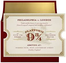enchanted train ticket invitations in red greenvelope com
