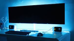 imac wall mount budget gaming setup dual monitor u0026 t v wall mount youtube