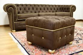 Pre Owned Chesterfield Sofa by Chesterfield Leather Footstool Create Your Own Custom Model