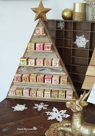 wood advent calendar white diy wood advent calendar feature by saved by