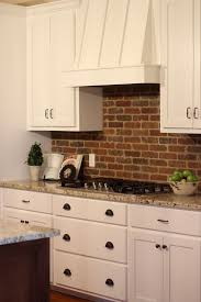 kitchen brick backsplash 30 practical and really stylish brick kitchen backsplashes